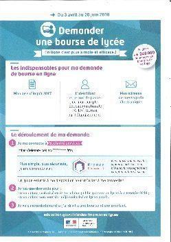 Demande De Bourse Nationale De Lycee 2018 2019 College Antoine De
